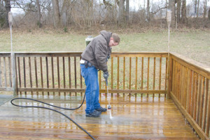 Suches Log Home Pressure Washing