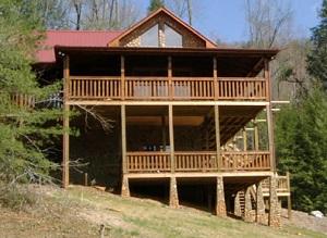 Gilmer County Log Home Restoration | Cabin Staining Gilmer